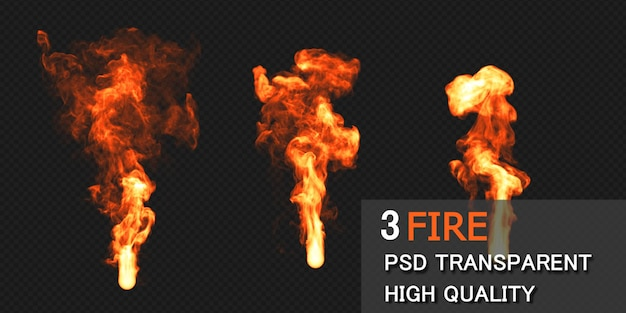 Fire design rendering isolated