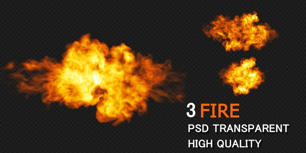 Fire explosion design rendering isolated rendering