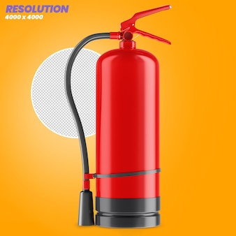 Fire extinguisher with transparent background