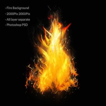 화재 및 불꽃 배경