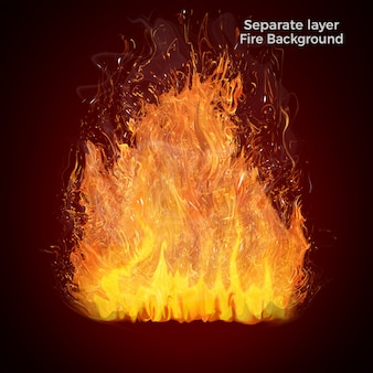 Fire flames isolated Premium Psd