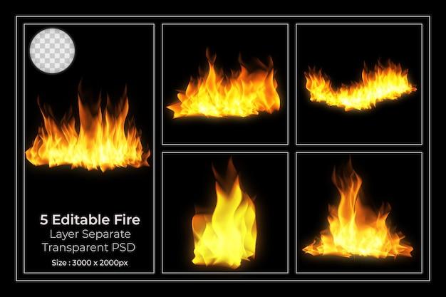 火炎透明セット