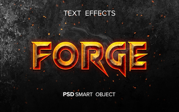 Fire inspired text effect
