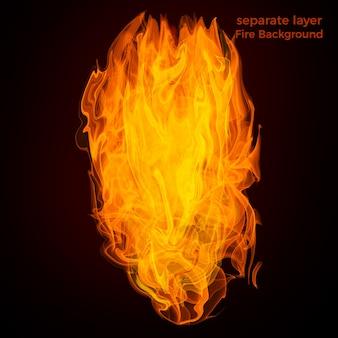 Огонь пламя на черном фоне.