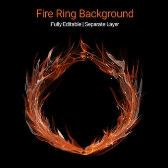 Fire ring background