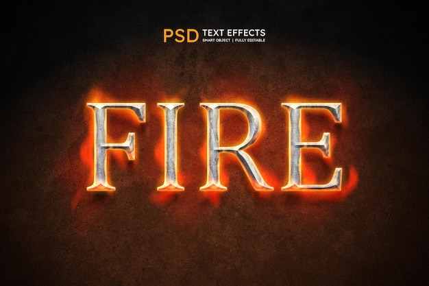 Fire text style effect