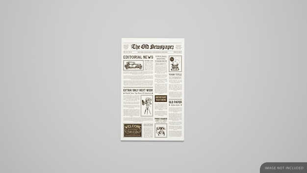 First page newspaper mockup