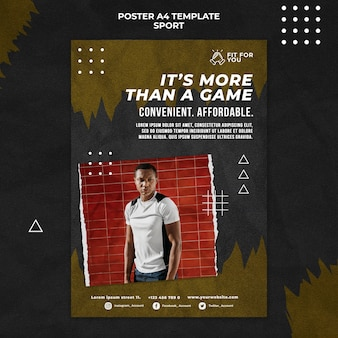 Шаблон постера для фото с мужчиной