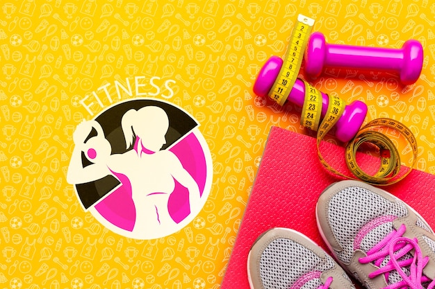 Fitness class training equipment