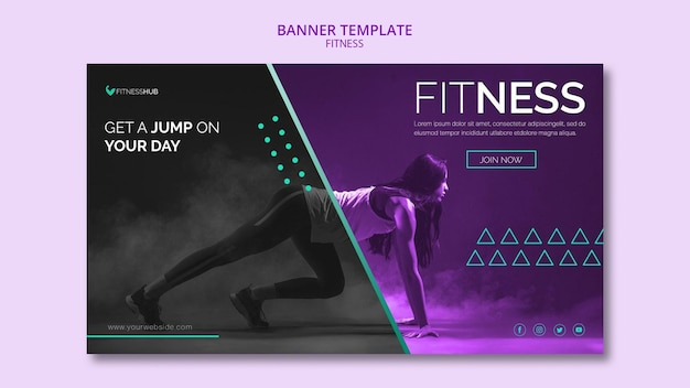 Fitness concept banner template