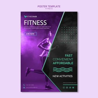 Fitness concept poster template