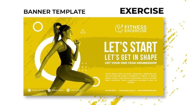 Шаблон баннера для фитнеса