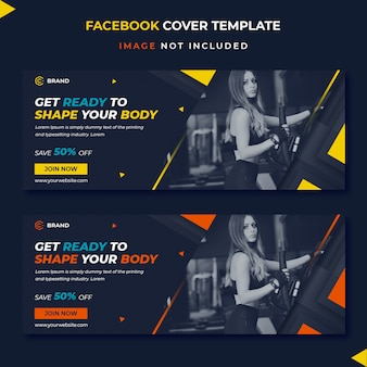 Fitness facebook cover banner template