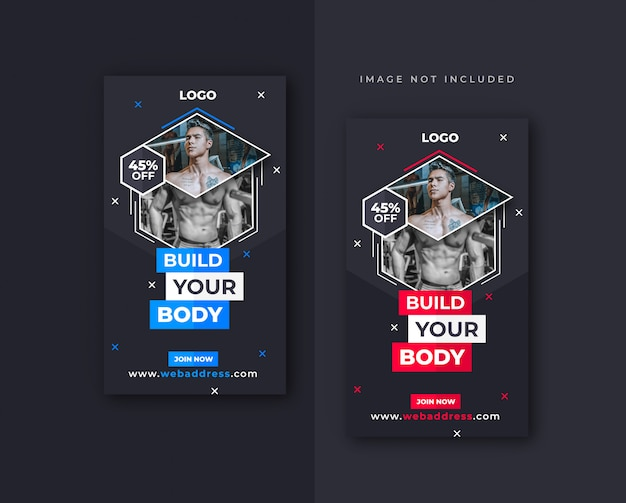 Fitness facebook or instagram story  design