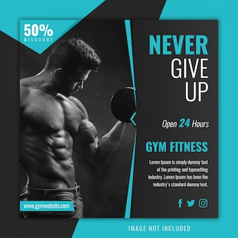 Fitness gym instagram post template