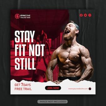Fitness gym social media post template instagram post design