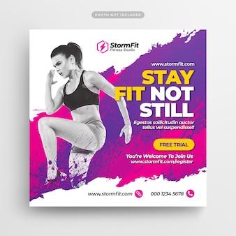 Fitness gym социальные медиа почта и веб-баннер