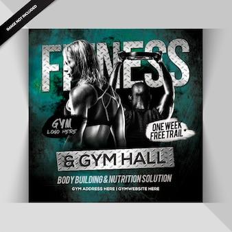 Fitness instagram post or banner
