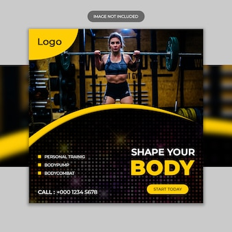 Fitness instagram post template