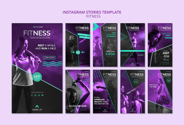 Fitness instagram stories template