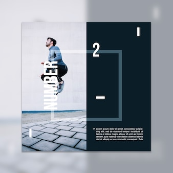 Fitness mockup with image
