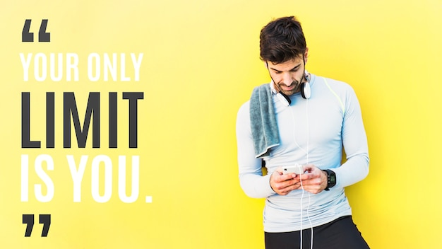 Fitness mockup with quote