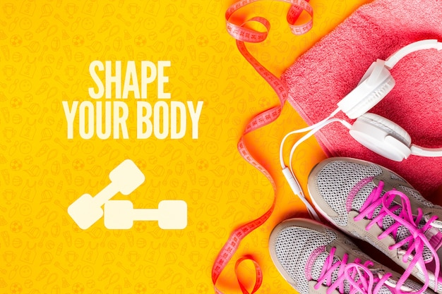 Fitness shoes and equipments for class