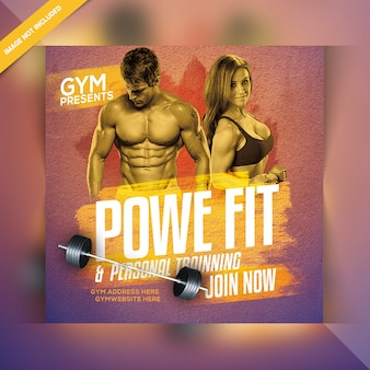Fitness social banner template