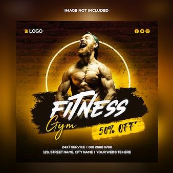 Fitness social media banner template
