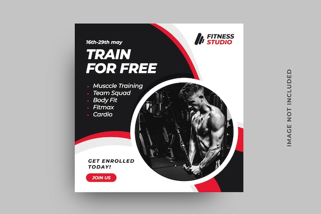 Fitness social media post banner template