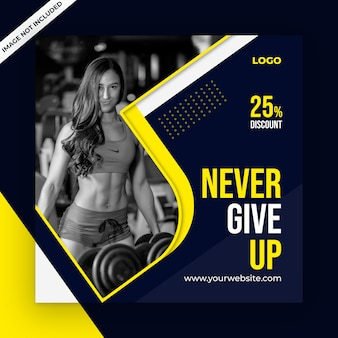 Fitness social media post template
