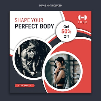Fitness social media template