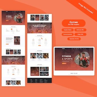 Fitness and sports psd template