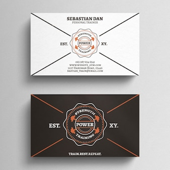 Fitness Trainer Business Card Template