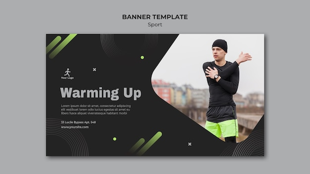 Fitness training ad banner template