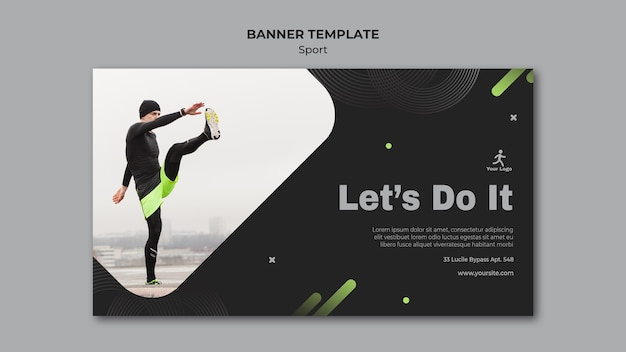 Fitness training ad template banner