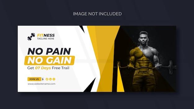 Banner web fitness o modello di social media