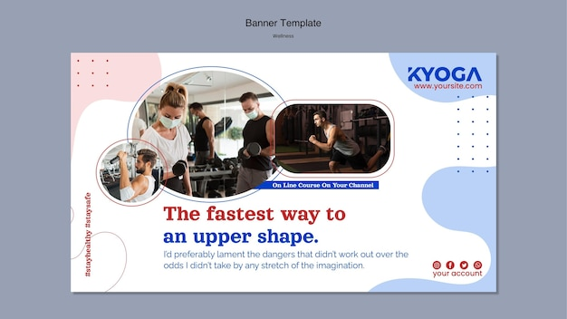 Fitness wellness banner template