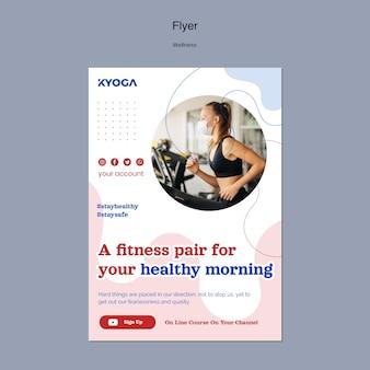 Fitness wellness flyer template