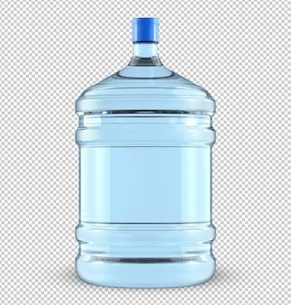 Большая пластиковая бутылка для воды объемом пять галлонов.