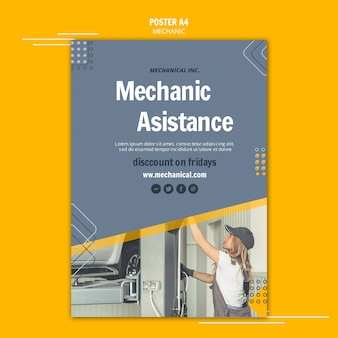 Fix your car mechanic assistance flyer