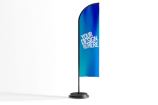 Flag banner advertisement mock up
