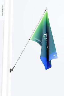 ポールの旗のモックアップ