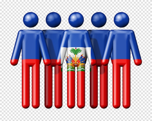 Флаг гаити на человеческих фигурах