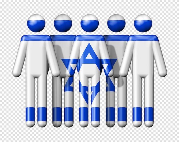 Флаг израиля на человеческих фигурах