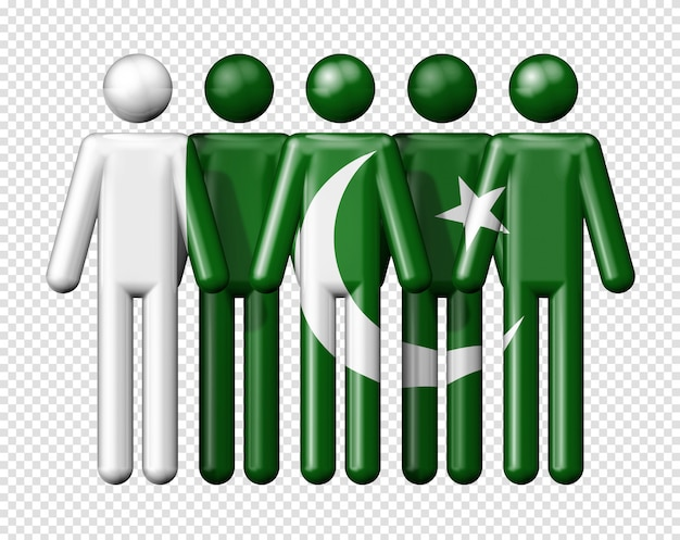 Флаг пакистана на фигурках