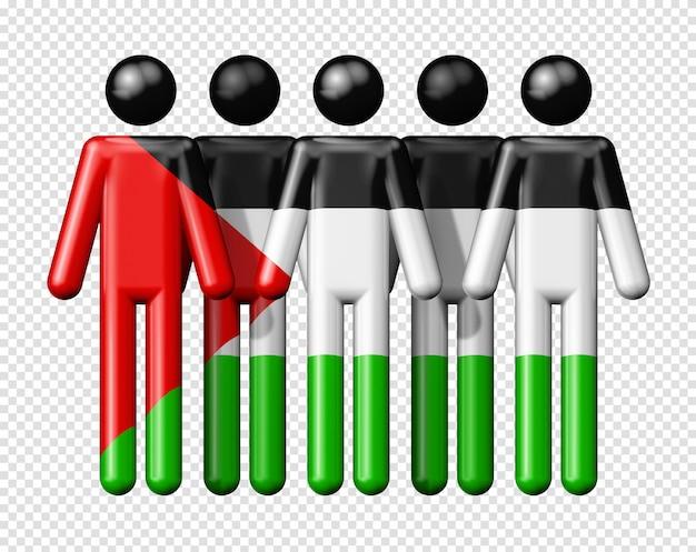 棒の数字にパレスチナの旗