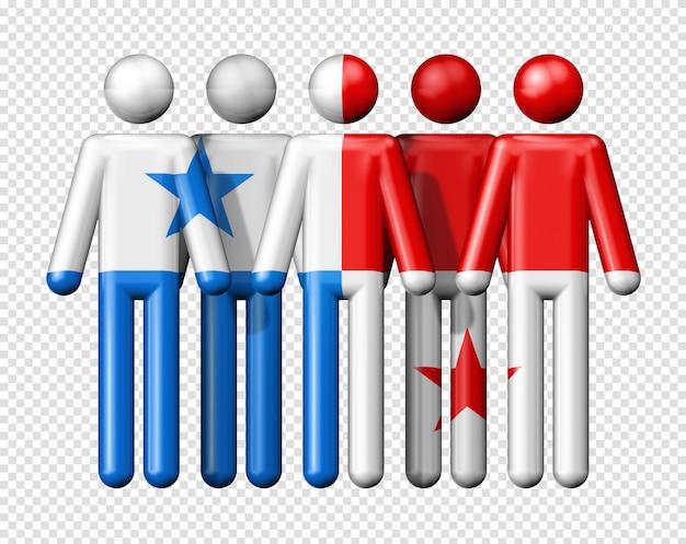 Флаг панамы на фигурках