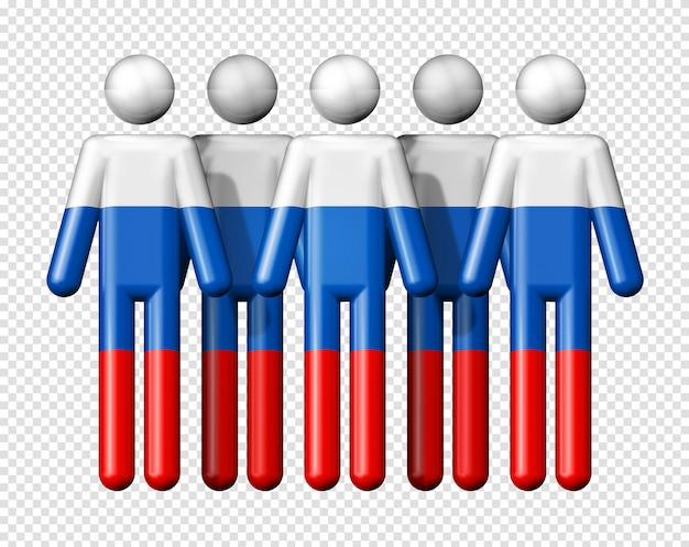 막대기 그림에 러시아의 국기