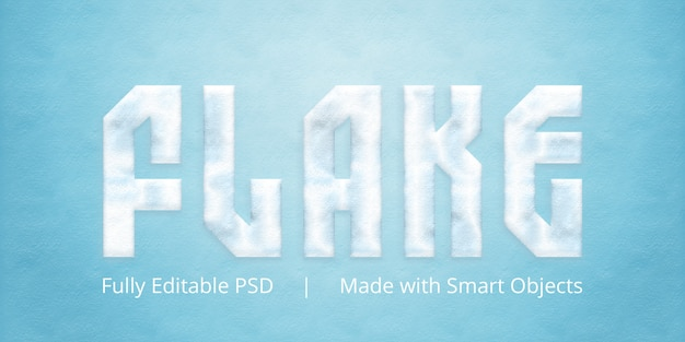 Flake text style effect